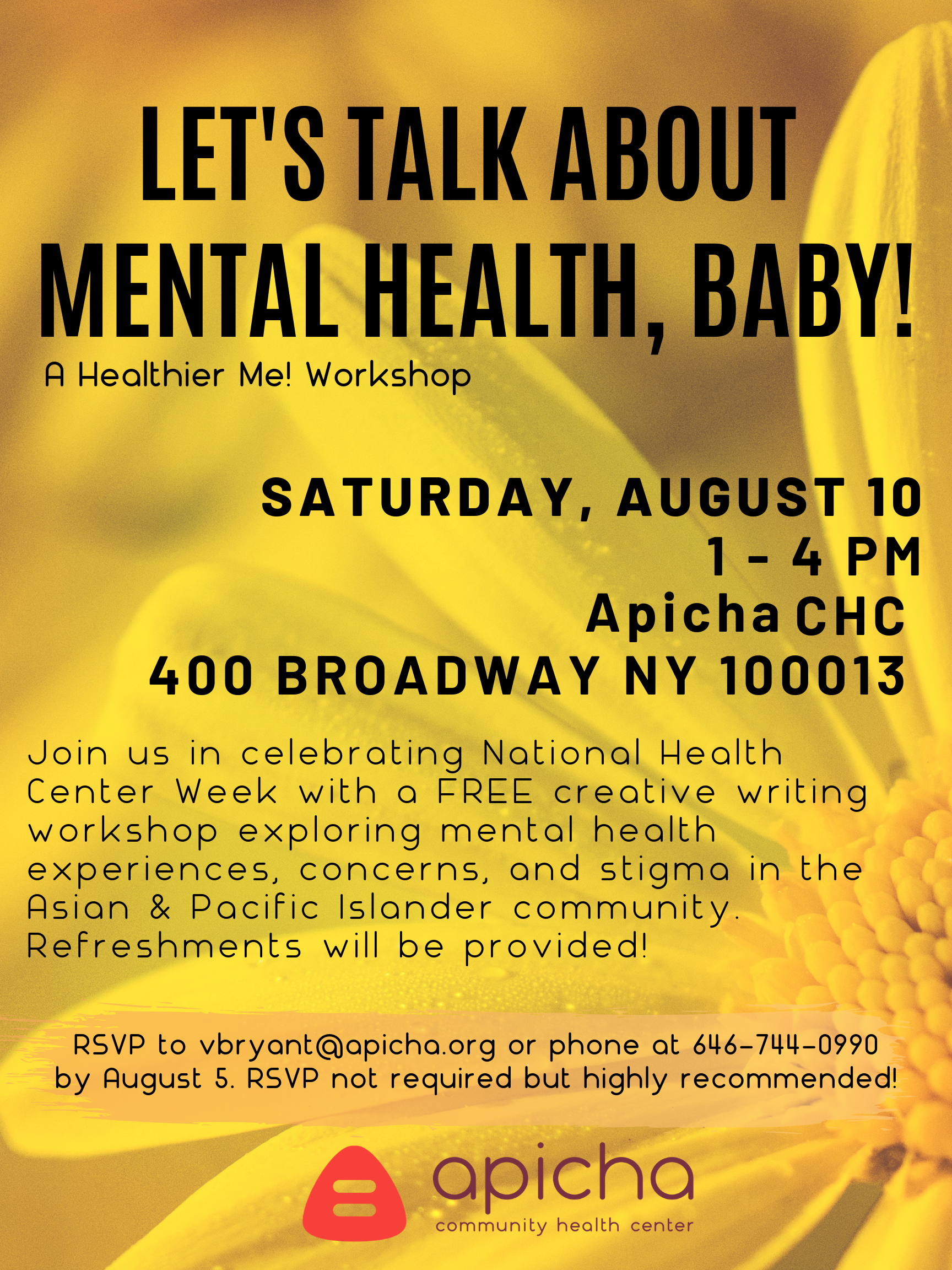 LETs TALK ABOUT MENTAL HEALTH, BABY!