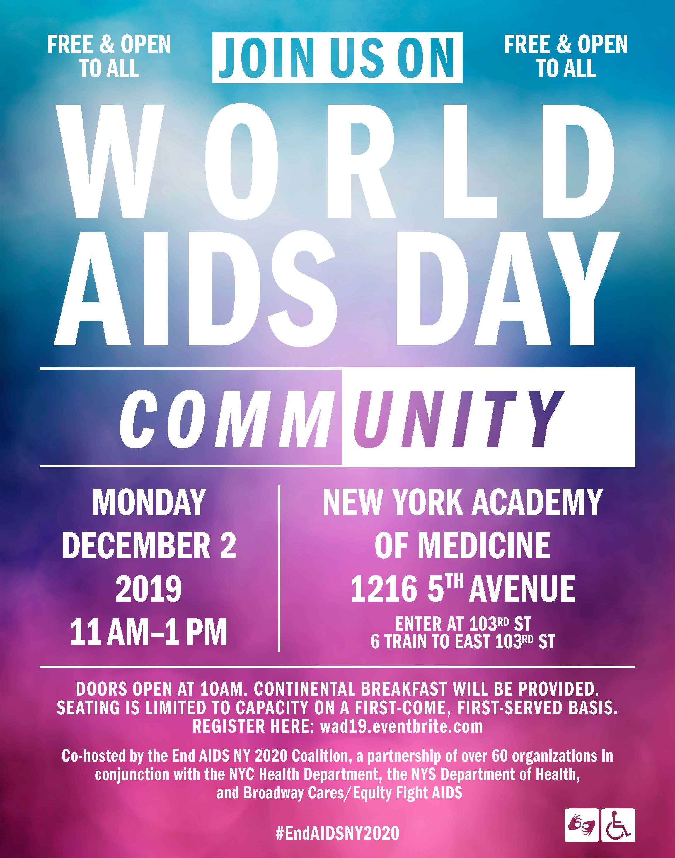 Come Celebrate 2019 World AIDS Day in NYC